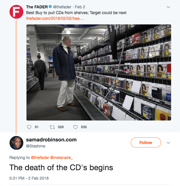 Fans Mourning The Pulling Out of CDs